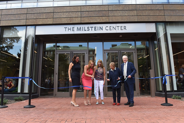 Milstein ribbon cutting.